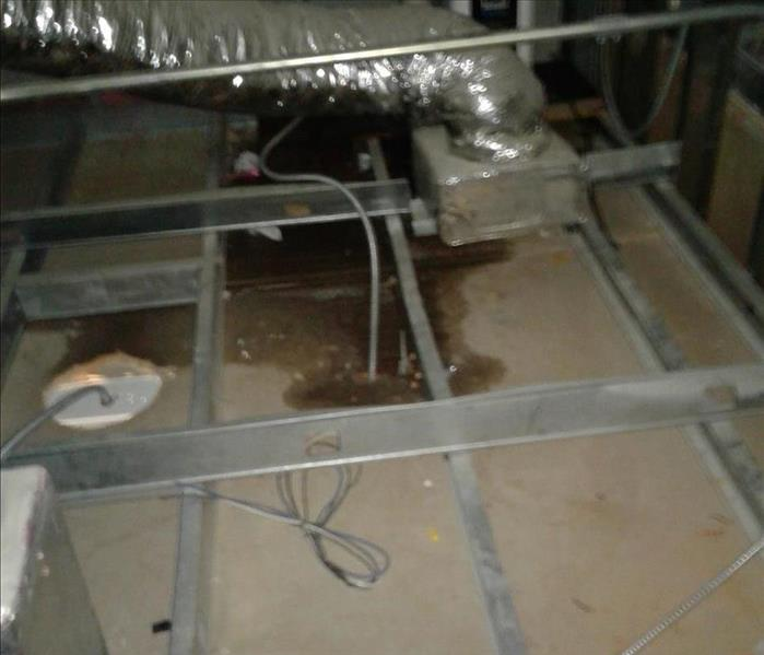 Commercial Water Damage in Brownsville,TX. Before