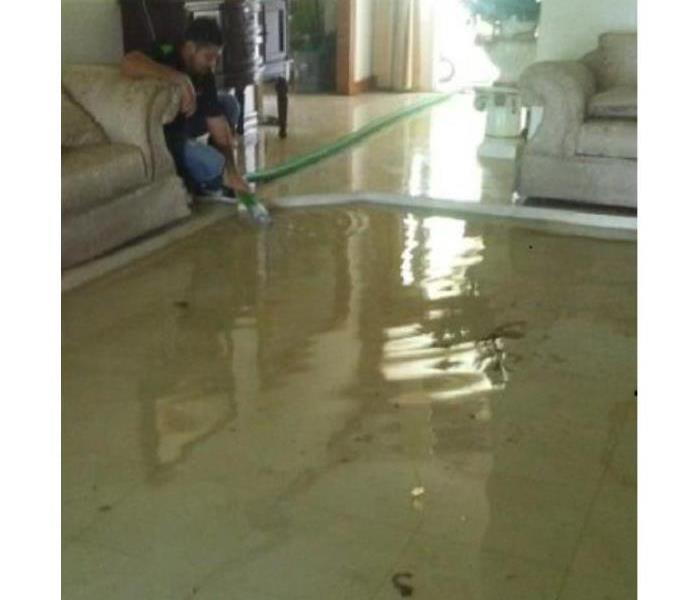 Flooded Sunken Living Room Extraction in Brownsville, Tx Before